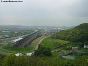 The Resevoir and Channel Tunnel entrance beyond