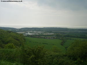 THe outskirts of Folkestone below